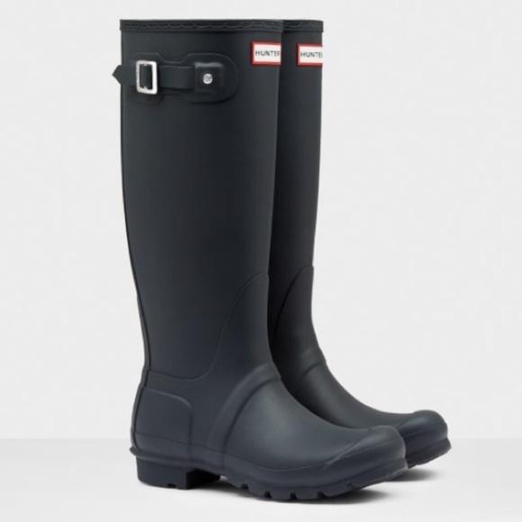 Tall Matte Black Rain Boot Womens Size